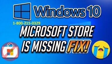 Windows Store missing Windows 10
